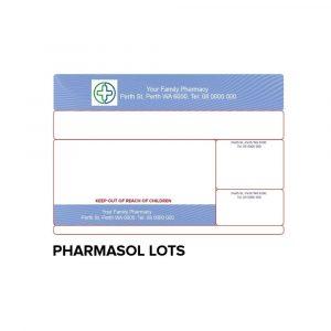 Dispensing label -PHARMASOL LOTS