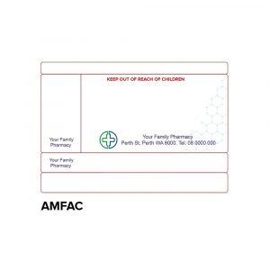 Dispensing label -AMFAC