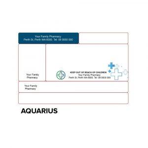 Dispensing label -AQUARIUS