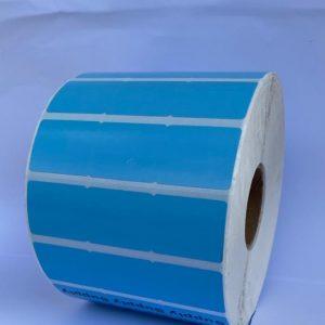 Thermal 3 across POS Label-Blue- 2ROLL/CTN
