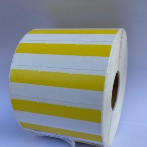 Thermal 3 across POS Label-Yellow/white- 2ROLL/CTN